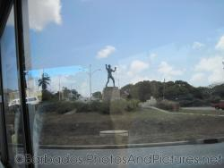 Statue at a roundabout in Barbados.jpg