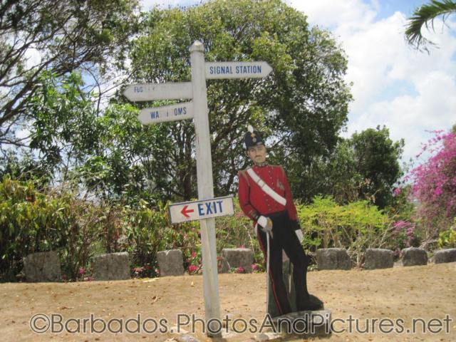 Sign points to Rusilier Road and Signal Station in Barbados.jpg
