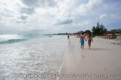 Beach scene and waves at Carlisle Bay Beach in Bridgetown Barbados.jpg