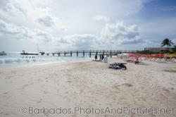 Pier at Carlisle Bay Beach in Bridgetown Barbados.jpg