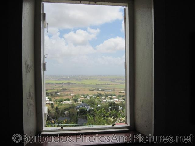 Looking out through a window at Gun Hill Signal Station in Barbados.jpg