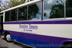 Destiny Tours bus parked at Gun Hill Signal Station in Barbados.jpg